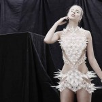 Abito  Spire stampato in 3D sulle passarella  Lysis Collection al New York Fashion Week