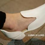 Lung x Lung Design , scarpe stampate con tacchi intercambiabili