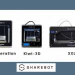 Sharebot – Kiwi 3d – Sharebot NG  – Sharebot XXL
