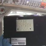 Componente stampato in 3d nello spazio