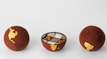 Chocolate Globe – crezione stampata in 3d dal food designer Marijn Roovers