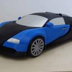 Bugatti Veyron Stampata in 3d in scala 1: 8  download gratuito per i collezionisti