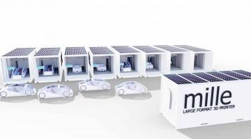 Stampante 3D Mille trasforma i  Containers in grandi  Stampanti 3D
