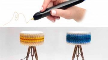 Realizza un Paralume Multicolore con 3Doodler , la penna 3D