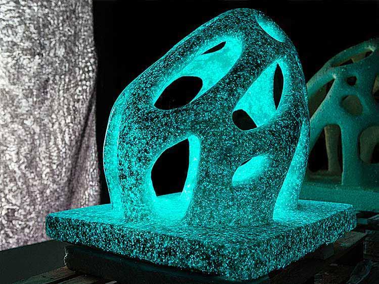elemento bioluminescente stampa  3D marmo desmanera