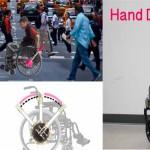 Hand Drive Propulsore per Sedia a rotelle economico stampato in 3D