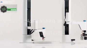 Makerarm braccio robotico multifunzione e stampante 3D lanciato su Kickstarter