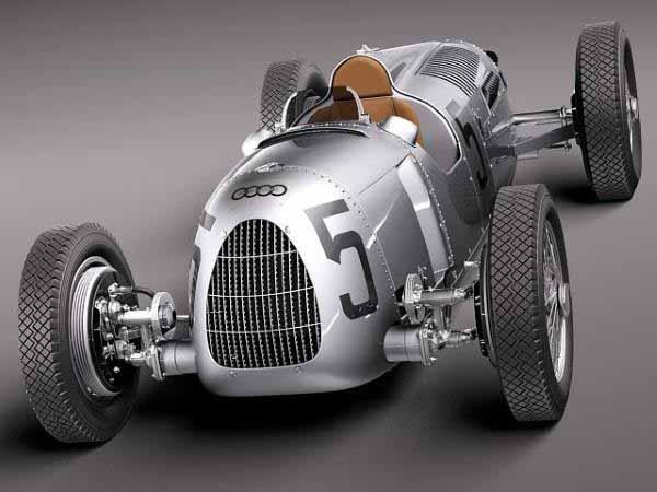 Auto Union Type C 1936  replica della  macchina da corsa Audi stampata in 3D