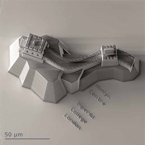 Replica microscopica di una sezione della Grande muraglia cinese