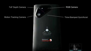 Google Tango Project sviluppa smartphone con scansione 3D e funzionalità di acquisizione di immagini avanzate.