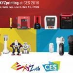 Lenuove stampanti 3D di XYZprinting :entry level a 269$, stampanti 3d DLP ultraprecise e stampanti 3D a getto legante