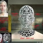 Donna che si trasforma in  Mesh  Stampato 3D nell'incredibile video dei Chemical Brothers