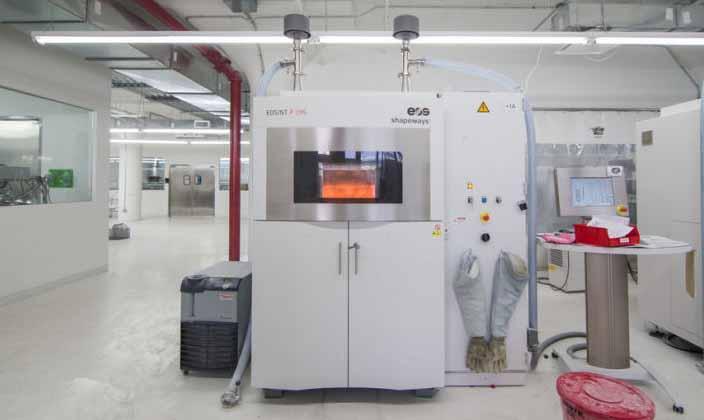stampante 3d industriale della EOS