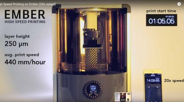 Ember DLP 3D SLA di Autodesk  raggiunge 440 mm/ora di costruzione
