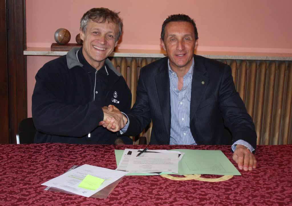 Massimo Moretti e il sindaco Daniele Bassi