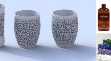 Nervous System sperimenta Porcelite  ,materiale in porcellana fotopolimerizzante con DLP e SLA