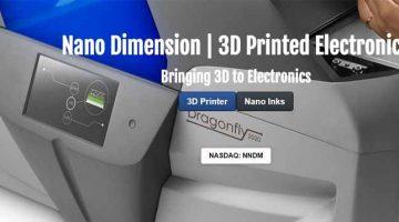 Nano Dimension  lancia nuovo inchiostro conduttivo nanometrico che aumenta la velocità di stampa 3D