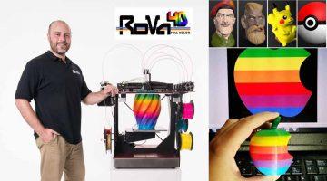 RoVa4D Full Color Blender 3D- La rivoluzionaria stampante 3D a colori sbanca su Kickstarter