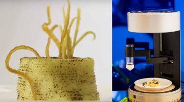Nuova stampante 3D alimentare che cuoce anche il cibo