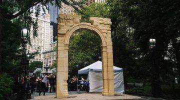 Stampata in 3D da aziende italiane, la replica dell'arco distrutto  da ISIS a Palmyra – In mostra a New York