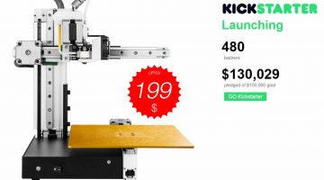 Cetus3D, la stampante 3D minimal a 199 $ sbanca su Kickstarter