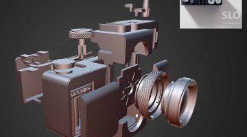 SLO – Fotocamera 35 mm interamente stampata in 3D, compreso obiettivo
