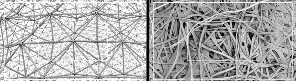 modelli geometri architettonico per parti, organico unico