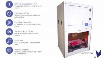 Roboze One + 400 stampa materiali termoplastici per applicazioni avanzate
