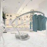 Arredo Scultoreo in acciaio, per negozio di moda, realizzato grazie alla stampa 3d