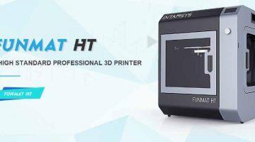 La stampante FUNMAT HT 3D ottimizzata per il  PEEK
