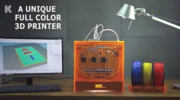 NIX 3D stampante a colori FFF ad  alta risoluzione lanciata su Kickstarter a 900 €