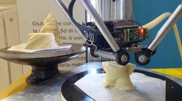 la Stampante 3D alimentare di WASP alla fiera di Rimini prepara cibo per celiaci