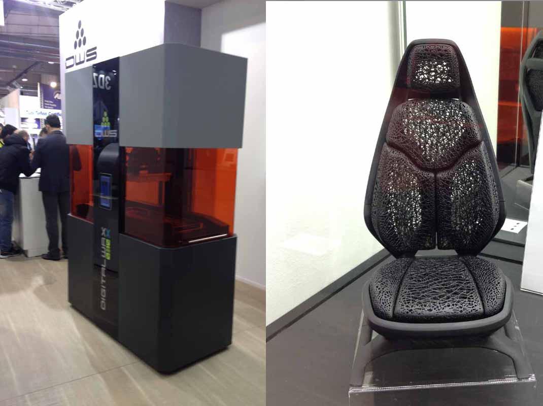 la stampante DIGITALWAX® 030D grande formato, e un oggetto dai dettagli incredibili stampati con la stessa macchina