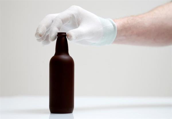 bottiglia di birra BERTINCHAMPS stampata in 3d in cioccolato
