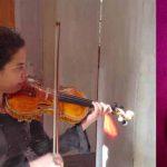 Stampata in 3D replica di  violino Stradivarius con filamenti di legno
