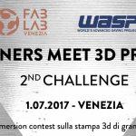 Fablab Venezia e Wasp organizzano un Contest su Stampa 3D grande formato – 1 luglio a Venezia