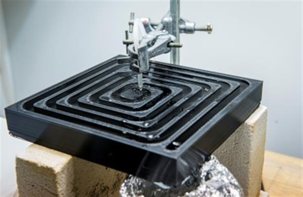 sistema HWT trattamento delle acque domestiche stampato in 3D