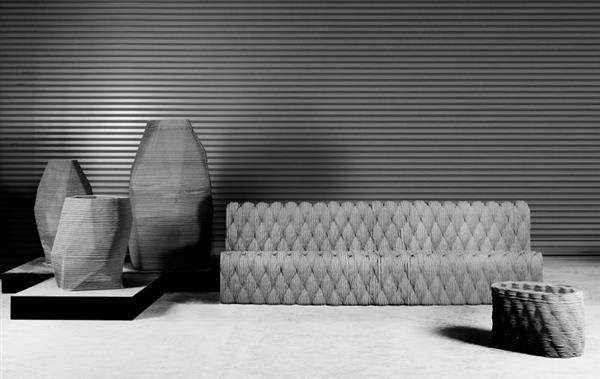 """Set di mobili da giardino """"Fluctuation of Precision"""" stampato in 3D"""