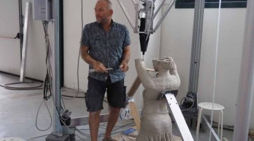 Stampa 3D applicata alla scultura . L'opera  di Daniel Maillet in collaborazione con WASP
