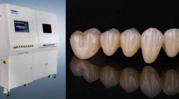 Stampante 3D ceramica Porimy realizza le prime protesi dentali in zirconio, certificate.