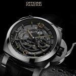 Il marchio italiano  Panerai lancia  Luminor 1950 Tourbillon GMT Titanio, orologio di lusso stampato in 3D
