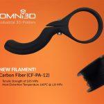 OMNI3D rilascia il nuovo filamento in fibra di carbonio CF-PA-12  per le stampanti 3D FDM