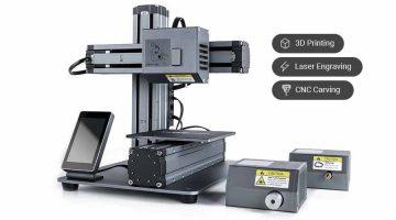 La multifunzione Snapmaker 1 che combina  LAser, Cnc e Stampa 3D in svendita per l'uscita Snapmaker 2