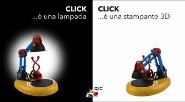 q3d  Lampada da scrivania e stampante 3D a meno di 300 €. Prenotabile online sul sito www.q3d.it