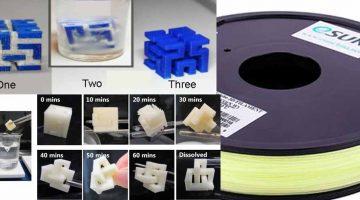 eSoluble, il nuovo materiale PVA  idrosolubile di supporto dimezza i tempi di post-lavorazione