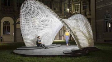 Trabeculae Pavilion, il padiglione stampato in 3D a Milano, con guscio adattivo ai carichi strutturali