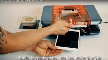 New Lumifold TB: la rivoluzionaria stampante 3D  DLP che stampa utilizzando il tuo tablet