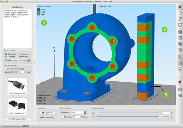 Le nuove funzionalit per stampanti 3d multi materiale di for Programmi architettura 3d