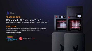 ROBOZE  con EUROPAC 3D per sostenere il cambiamento tecnologico  delle imprese in UK