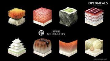 Sushi Singularity . Il ristorante di Sushi stampato in 3D personalizzato per ogni commensale.